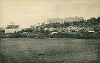 Zamek w Janowcu - Zamek w Janowcu na pocztówce z 1914 roku