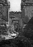 Zamek w Janowcu - Ruiny zamku w Janowcu na zdjęciu z okresu międzywojennego