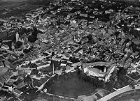 Zamek w Jaworze - Jawor na zdjęciu lotniczym z około 1941 roku