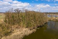 Zamek w Jelczu - Zdjęcie lotnicze, fot. ZeroJeden, IV 2021