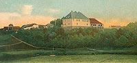 Zamek w Jezioranach - Zamek w Jezioranach na pocztówce z 1910 roku