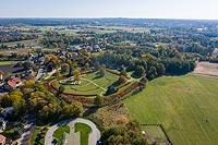 Zamek w Kaliszu-Zawodziu - Zdjęcie lotnicze, fot. ZeroJeden, X 2019
