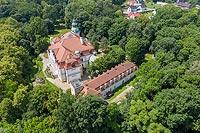 Zamek w Kamieńcu Śląskim - Zdjęcie lotnicze, fot. ZeroJeden, VI 2020