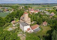 Zamek w Kantorowicach - Zdjęcie z lotu ptaka, fot. ZeroJeden, V 2020
