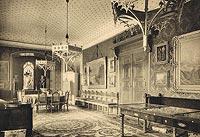 Zamek w Karpnikach - Wnętrza zamku w Karpnikach w okresie międzywojennym