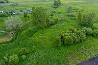 Dwór w Kazanowie Starym - Widok z lotu ptaka, fot. ZeroJeden, V 2020