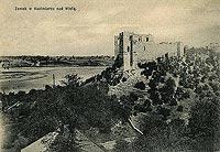 Zamek w Kazimierzu Dolnym - Zamek w Kazimierzu Dolnym w roku 1908