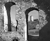 Zamek w Kazimierzu Dolnym - Ruiny zamku w Kazimierzu w 1942 roku