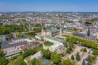 Pałac w Kielcach - Widok z lotu ptaka, fot. ZeroJeden, V 2020