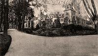 Zamek w Kliczkowie - Zamek na widokówce z 1919 roku