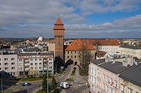 Zamek w Kluczborku - Zdjęcie lotnicze, fot. ZeroJeden, IV 2021