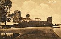Zamek w Kole - Zamek w Kole na zdjęciu W.Januszewicza z około 1920 roku