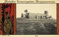 Zamek w Kole - Ruiny na widok�wce z 1910 roku