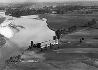 Zamek w Kole - Zamek w Kole na zdjęciu lotniczym z 1927 roku