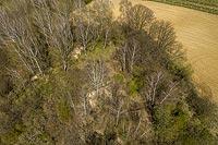 Zamek w Konarach - Zdjęcie lotnicze, fot. ZeroJeden, IV 2021