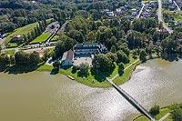 Zamek w Kończycach - Zdjęcie lotnicze, fot. ZeroJeden, IX 2019