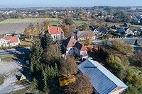 Zamek w Końskowoli - Zdjęcie lotnicze, fot. ZeroJeden, X 2018