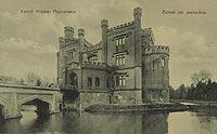 Zamek w Kórniku - Zamek na widokówce z okresu międzywojennego