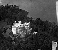 Zamek w Kórniku - Zamek w Kórniku na zdjęciu lotniczym z 1927 roku