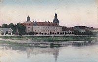 Zamek w Kostrzynie nad Odrą - Zamek na widokówce z 1910 roku