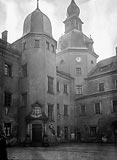 Kostrzyn - Dziedziniec zamkowy w latach 20. XX wieku