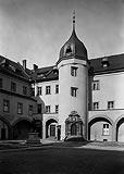 Zamek w Kostrzynie nad Odrą - Dziedziniec zamkowy w latach 20. XX wieku