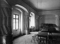 Zamek w Kostrzynie nad Odrą - Wnętrza zamkowe w początkach XX wieku
