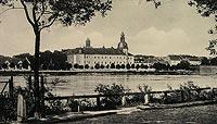 Zamek w Kostrzynie nad Odrą - Zamek na przedwojennej widokówce
