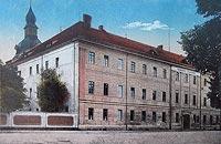 Zamek w Kostrzynie nad Odrą - Zamek w Kostrzynie na widokówce z 1915 roku