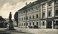 Zamek w Kostrzynie nad Odrą - Zamek na pocztówce z początku XX wieku