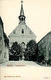 Zamek w Koszalinie - Kaplica zamkowa w Koszalinie na pocztówce z 1904 roku