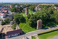 Zamek w Kowalewie Pomorskim - Zdjęcie lotnicze, fot. ZeroJeden, VII 2020