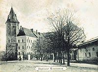 Koźmin - Zamek w Koźminie na pocztówce z przełomu XIX i XX wieku