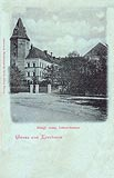 Zamek w Koźminie - Zamek w Koźminie na pocztówce z 1905 roku