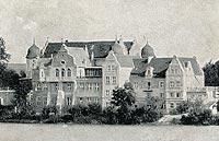Krąg - Zamek w Krągu na widokówce z początków XX wieku
