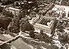 Zamek w Krapkowicach - Zamek w Krapkowicach na zdjęciu lotniczym z lat 30. XX wieku