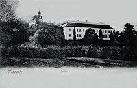 Zamek w Krapkowicach - Zamek na widokówce z okresu międzywojennego