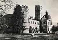 Zamek w Krasiczynie - Zamek w Krasiczynie na zdjęciu Adama Lenkiewicza z 1939 roku
