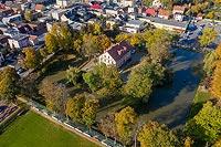 Zamek w Krobii - Zdjęcie lotnicze, fot. ZeroJeden, X 2019