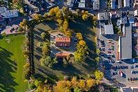 Zamek w Krobi - Zdjęcie lotnicze, fot. ZeroJeden, X 2019