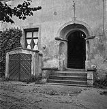 Zamek w Krośnie Odrzańskim - Portal od strony dziedzińca w 1938 roku