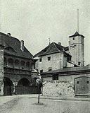 Zamek w Krośnie Odrzańskim - Zamek na zdjęciu z 1921 roku, 'Die Kunstdenkmaler der Provinz Brandenburg Kreis Crossen'