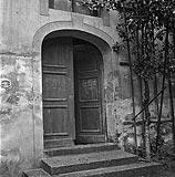 Zamek w Krośnie Odrzańskim - Wejście do zamku na zdjęciu z 1938 roku