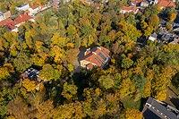Zamek w Krotoszynie - Zdjęcie lotnicze, fot. ZeroJeden, X 2019