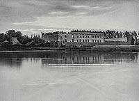 Zamek w Krupem - Zamek na zdjęciu z 1899 roku