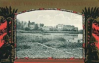 Zamek w Krupem - Zamek na widokówce z 1910 roku