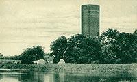 Zamek w Kruszwicy - Mysia Wieża na pocztówce z około 1925 roku