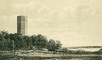 Kruszwica - Zamek w Kruszwicy na pocztówce z 1914 roku