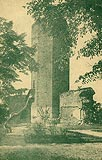 Zamek w Kruszwicy - Zamek w Kruszwicy na pocztówce z 1920 roku