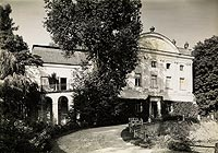 Kurozwęki - Zamek w Kurozwękach na zdjęciu Henryka Poddębskiego z około 1936 roku